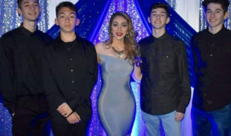 Ana Reynoso with her sons, Mark Anthony and Michael Angelo Urista